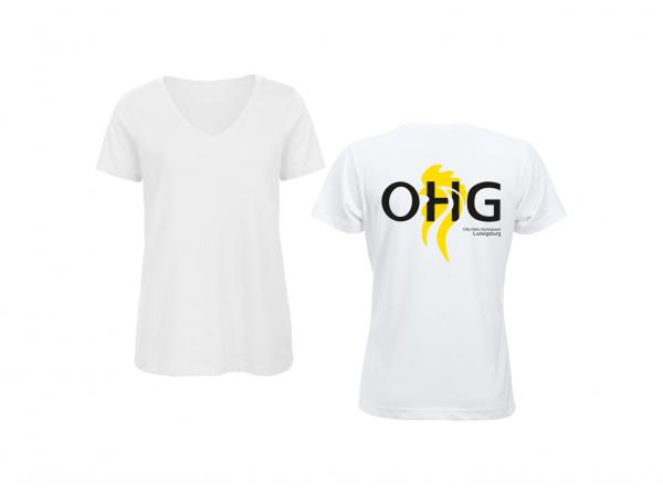 OHG - Schülerinnen T-Shirt (Tailliert) weiß
